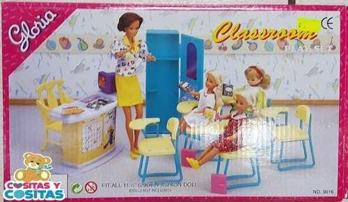 Mueble Para Casa De Muñecas Barbie Salon De Clases
