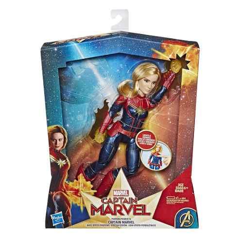 Muñeca Figura Acción Capitana Marvel Electrónica Hasbro