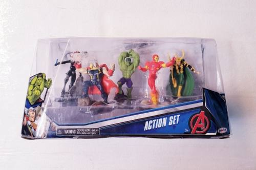 Oferta Muñeco Avengers Action Set Pack Thor Iron Hulk !!