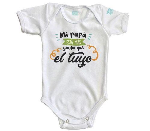 Pañalero Mi Papá Más Guapo Bebé Ropa Niña Niño Día