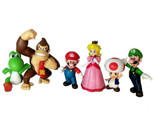 Set Super Mario Bros Figuras De Accion Muñeco Luigi Juguete