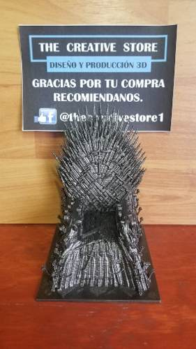 Trono De Hierro - Game Of Thrones - 12cm De Alto.
