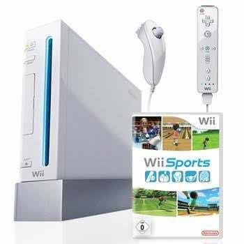 Wii Con Dos Controles Y El Juego Wii Sports