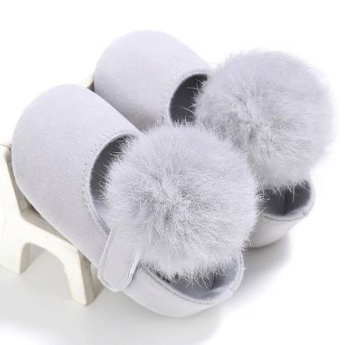 Zapatos De Bebé Niña Pompón