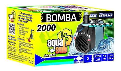 Bomba De Agua Sumegible Acuario Fuente Muro Lloron 2m