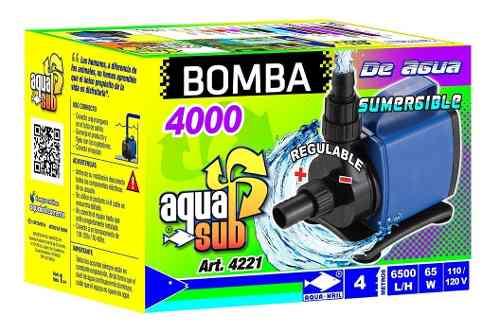 Bomba De Agua Sumergible Pecera Fuente Estanque 4m