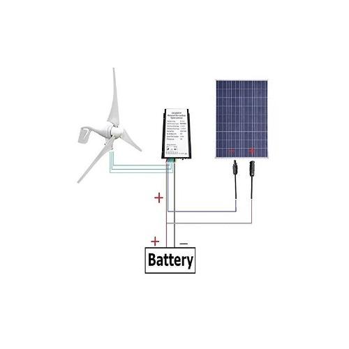 Eco-digno Generador De Turbina De Viento De 400 W Panel Sola