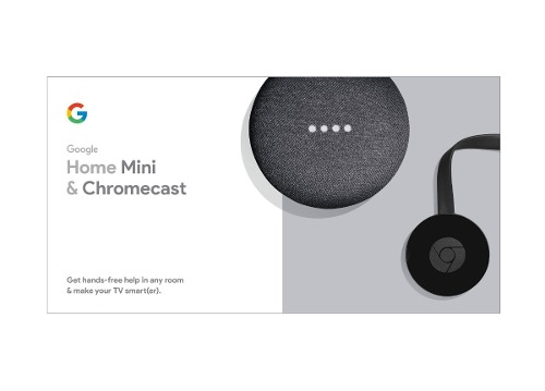 Google Chromecast 3 + Home Mini Smart Tv Kit Nuevo Sellado