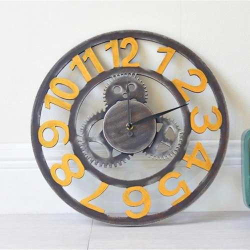 Reloj De Pared Industrial Engranaje Viento Del Vendimia Fash