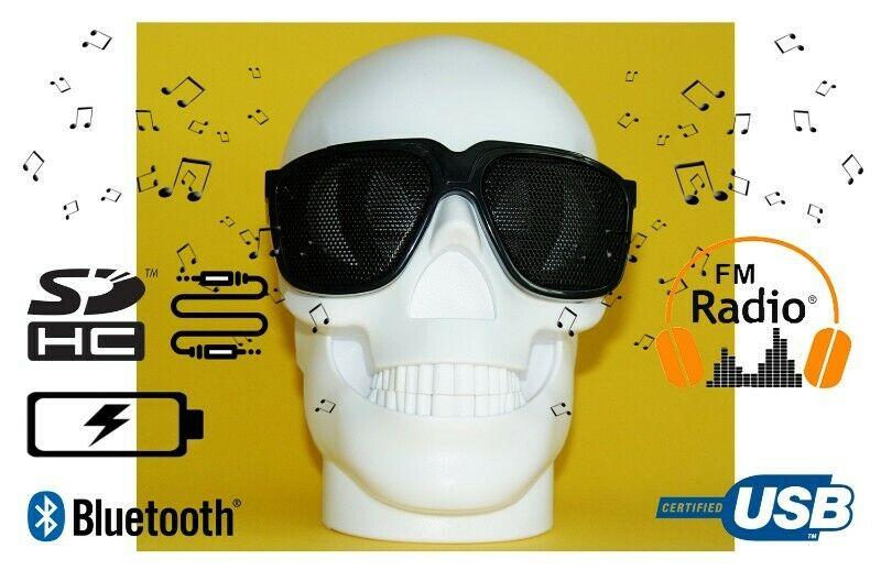 Bocina con sonido de buena calidad Bluetooth Cráneo color