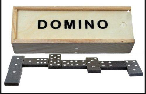 Divertido Juego De Mesa Mental Ingenio Domino Caja De Madera