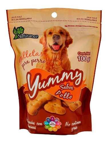Premios Para Perro Naturance Galletas Yummy Pollo 100 Gr