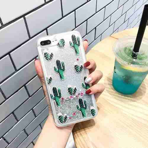 For iPhone 7 - #7 Cactus - Precioso Lindo Bling