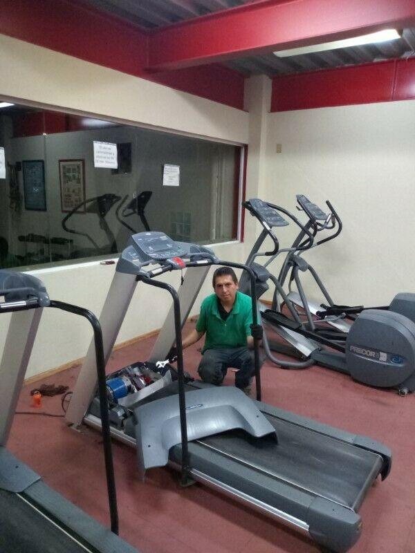 aparatos de ejercicio, caminadoras, bici fija, servicio