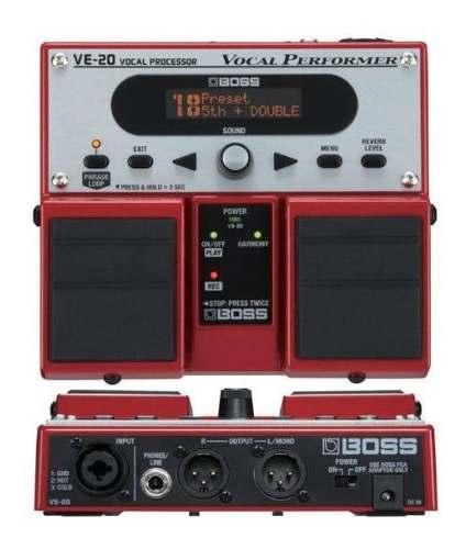 Boss Ve-20 Pedalera Procesador De Efectos Para Voz