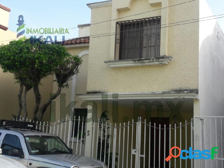Renta Casa 3 Recamaras Amueblada Colonia Cazones Poza Rica
