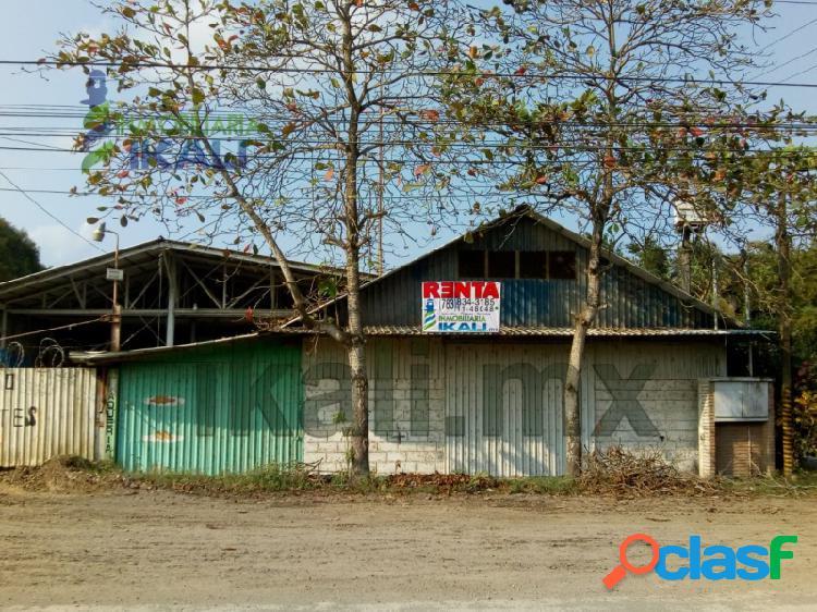 Renta nave industrial esquina 1500 m² Tuxpan Veracruz, La