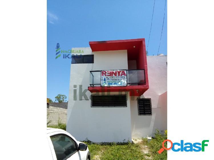 casa en renta nueva en tuxpan veracruz 2 rec. col. loma