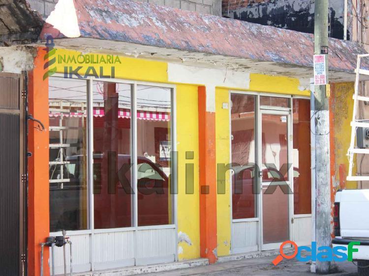 renta local comercial 110 m² colonia Centro de Tuxpan