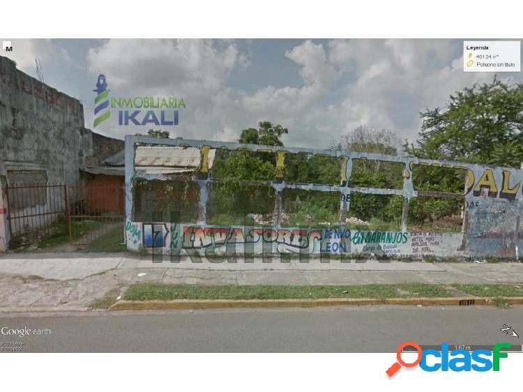 terreno comercial en el centro de naranjos veracruz 401 m²,