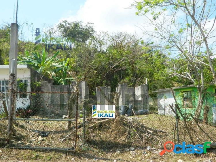 terreno en venta en tuxpan veracruz colonia vista hermosa