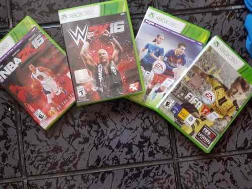 4 Juegos Del Xbox 360 (fifa17 Nba16 Wwe Fifa16