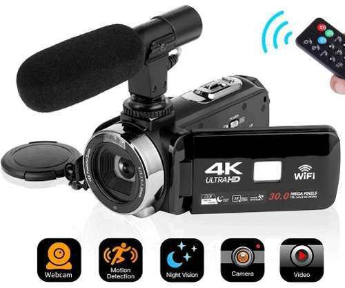 4k Vídeo Cámara De La Videocámara Digital Cámara Wifi