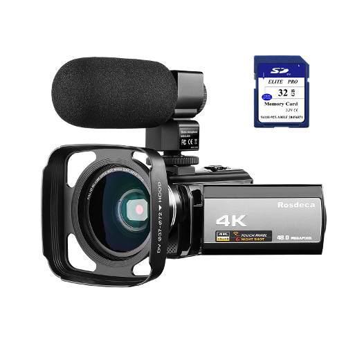 4k Videocámara Vídeo Cámara Rosdeca Ultra Hd 48.0mp Wifi