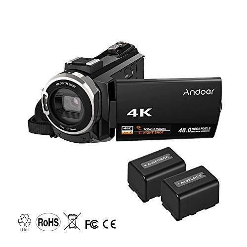 Andoer 4k 1080p 48mp Wifi Videocamara Grabadora De Video Dig