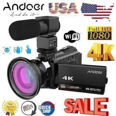 Andoer 4k Wifi 1080p Hd 48mp 16x Videocámara Digital