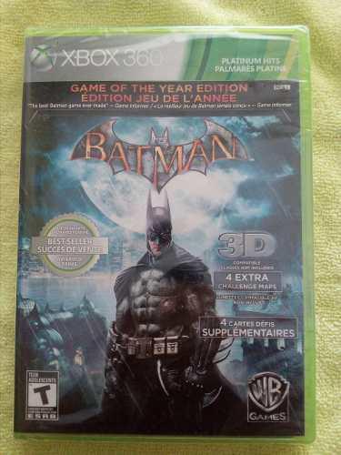 Batman Arkman Asilum Edicion Juego Del Año Sellado Fisico