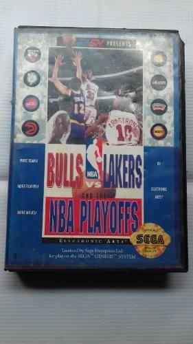 Bulls Vs Lakers Sega Genesis Videojuego Completo