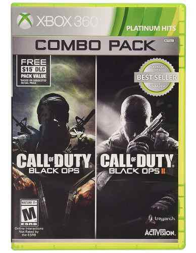 Call Of Duty Black Ops Combo 1 Y 2 Xbox 360 Nuevo