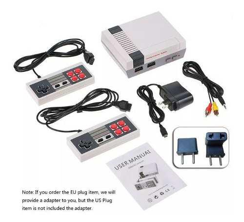 Consola De Videojuegos Clásica Con 2 Controles Y 620 Juegos