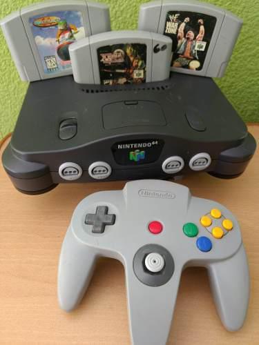 Consola Nintendo 64 Con 3 Juegos Garantia