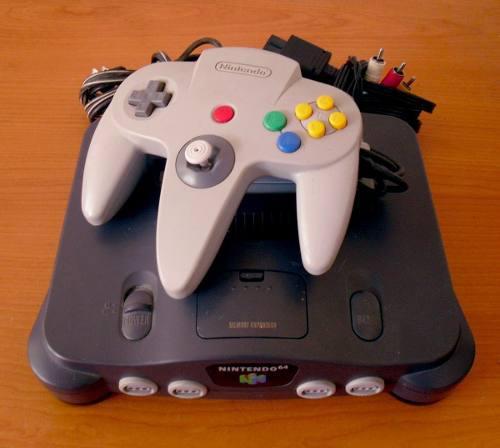 Consola Videojuegos Nintendo 64 N64 Vintage Retro 90s Mario