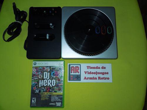 Dj Hero Xbox 360 Juego Y Tornamesa