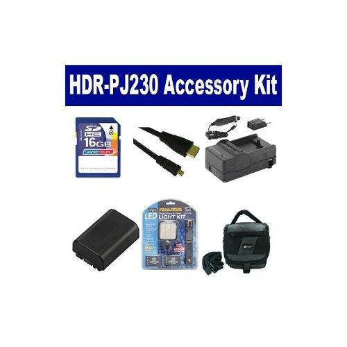 El Kit De Accesorios De La Videocámara Sony Hdr-pj230