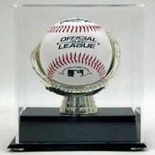 Exhibidor De Pelota De Beisbol Con Base De Guante Dorado