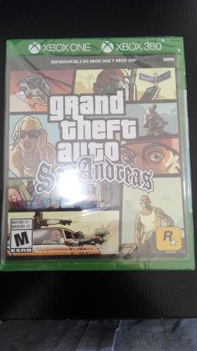 Grand Theft Auto San Andreas Xbox 360 Nuevo