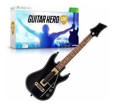 Guitarra + Juego Guitar Hero Live Para Xbox 360 Nva Caja Gra