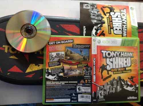 Juego De Patineta Tony Hawk Shred 360 Incluye Tabla Y Juego