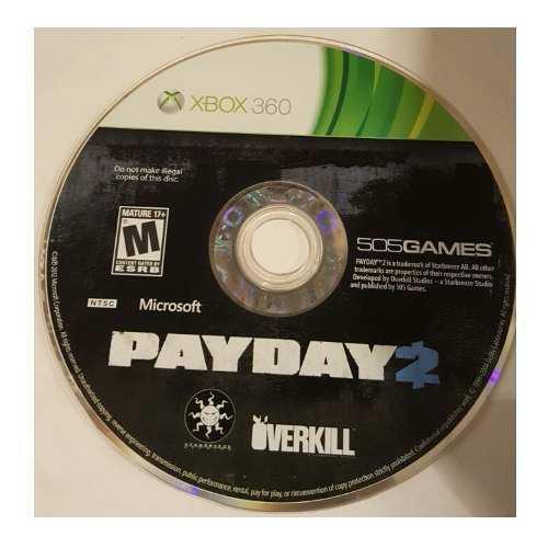 Juego Payday 2 Pay Day 2 Usado Para Xbox 360 Blakhelmet E C
