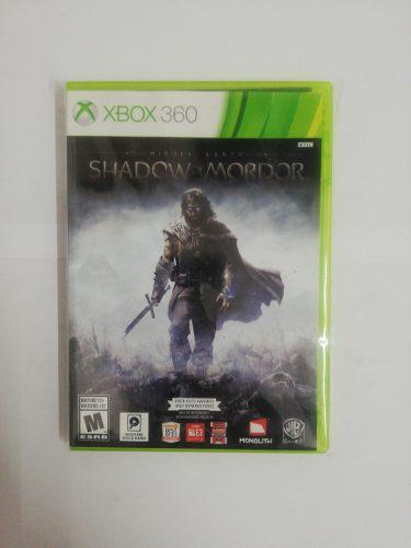 Juego Shadow Of Mordor Xbox 360 Nuevo Original