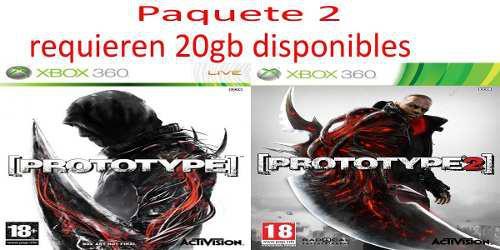 Juegos Para Xbox 360 Digitales Prototype 1 Y 2