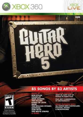 Juegos,guitar Hero 5 - Xbox 360 (sólo Juego)