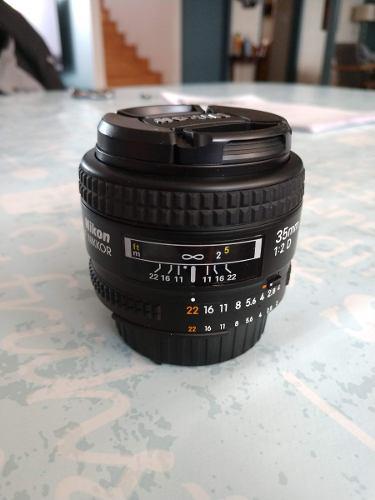 Lente Nikon Nikkor 35mm 2.0 D Hecho En Japon Seminuevo