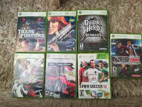 Lote De 7 Video Juegos Para Xbox 360 Originales