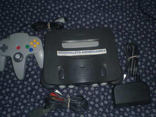 Nintendo 64 Con 10 Juegos Pokemon Star Wars Mario N64