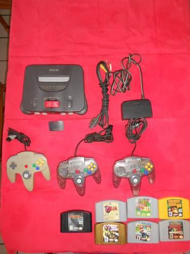 Nintendo 64 Con 3 Controles Y 7 Juegos